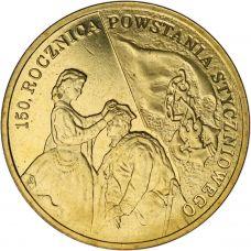 Puola 2013 2 Złoty 150th Anniversary of the January 1863 Uprising UNC