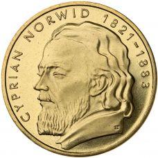 Puola 2013 2 Złoty Cyprian Norwid UNC