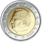 Belgia 2000 2 € UNC