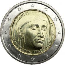 Italia 2013 2 € Giovanni Boccaccio UNC