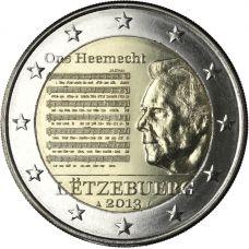 Luxemburg 2013 2 € Suuriruhtinaskunnan kansallislaulu UNC