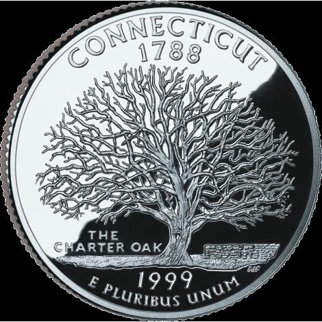 """USA 1999 $0,25 Connecticut """"P"""" UNC"""
