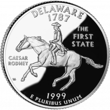 """USA 1999 $0,25 Delaware """"D"""" UNC"""