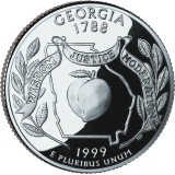 "USA 1999 $0,25 Georgia ""D"" UNC"