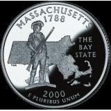 "USA 2000 $0,25 Massachusetts ""D"" UNC"