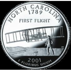 "USA 2001 $0,25 North Carolina ""D"" UNC"