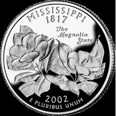 "USA 2002 $0,25 Mississippi ""D"" UNC"
