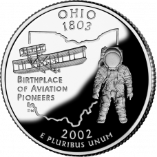 "USA 2002 $0,25 Ohio ""D"" UNC"