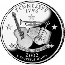 """USA 2002 $0,25 Tennessee """"D"""" UNC"""
