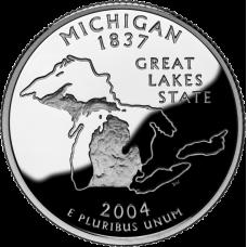 "USA 2004 $0,25 Michigan ""D"" UNC"