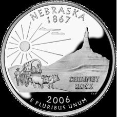 "USA 2006 $0,25 Nebraska ""D"" UNC"