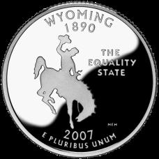 """USA 2007 $0,25 Wyoming """"P"""" UNC"""