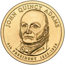 "USA 2008 $1 Presidentti John Quincy Adams ""D"" UNC"