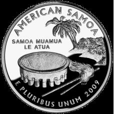 "USA 2009 $0,25 American Samoa ""D"" UNC"