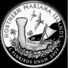 """USA 2009 $0,25 Northern Mariana Islands """"D"""" UNC"""