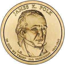 "USA 2009 $1 Presidentti James K. Polk ""D"" UNC"