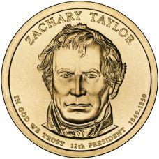 "USA 2009 $1 Presidentti Zachary Taylor ""D"" UNC"