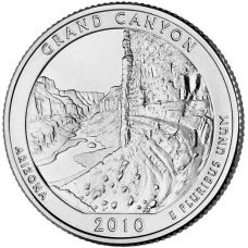 "USA 2010 $0,25 Arizona Grand Canyon National Park ""D"" UNC"