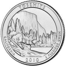 "USA 2010 $0,25 California Yosemite National Park ""D"" UNC"