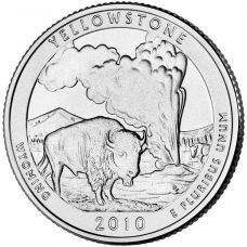 """USA 2010 $0,25 Wyoming Yellowstone National Park """"D"""" UNC"""