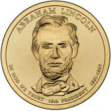 "USA 2010 $1 Presidentti Abraham Lincoln ""D"" UNC"