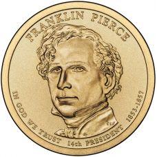 "USA 2010 $1 Presidentti Franklin Pierce ""D"" UNC"