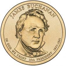 "USA 2010 $1 Presidentti James Buchanan ""D"" UNC"
