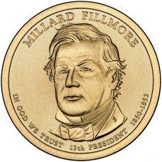 "USA 2010 $1 Presidentti Millard Fillmore ""D"" UNC"