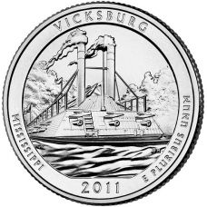 "USA 2011 $0,25 Mississippi Vicksburg National Military Park ""D"" UNC"