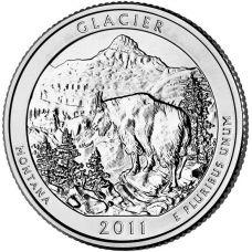 """USA 2011 $0,25 Montana Glacier National Park """"D"""" UNC"""
