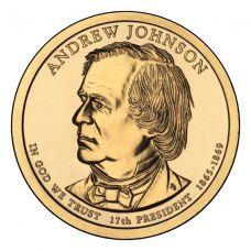 "USA 2011 $1 Presidentti Andrew Johnson ""D"" UNC"