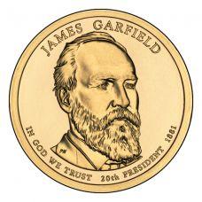 """USA 2011 $1 Presidentti James A. Garfield """"D"""" UNC"""