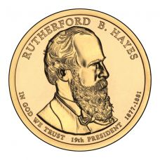 """USA 2011 $1 Presidentti Rutherford B. Hayes """"D"""" UNC"""
