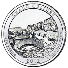 """USA 2012 $0,25 New Mexico Chaco Culture National Historical Park """"D"""" UNC"""
