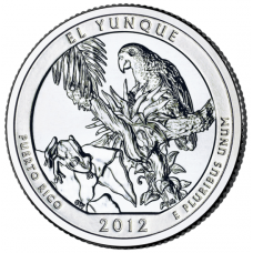 "USA 2012 $0,25 Puerto Rico El Yunque National Forest ""D"" UNC"