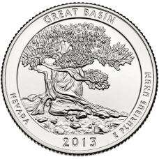 "USA 2013 $0,25 Nevada Great Basin National Park ""D"" UNC"