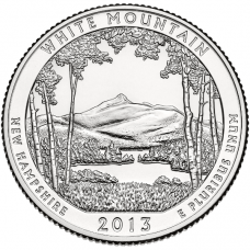 """USA 2013 $0,25 New Hampshire White Mountain National Forest """"D"""" UNC"""