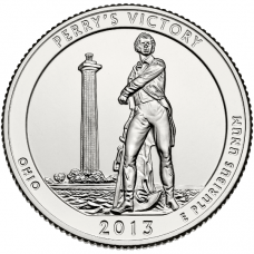 """USA 2013 $0,25 Ohio Perry's Victory and International Peace Memorial """"S"""" UNC"""