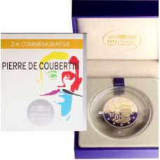 Ranska 2013 2 € Pierre de Coubertin PROOF