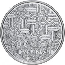 Suomi 2013 20 € Monikulttuurisuus HOPEA PROOF
