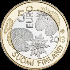 Suomi 2013 5 € Pohjolan luonto Kesä UNC