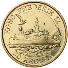 Tanska 2012 20 Kroner King Frederik IX Ship UNC