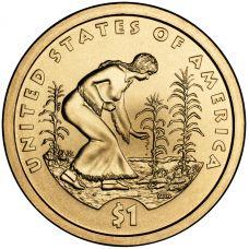 """USA 2009 $1 Sacagawea Native American """"D"""" UNC"""
