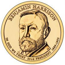"USA 2012 $1 Presidentti Benjamin Harrison ""D"" UNC"