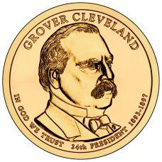 "USA 2012 $1 Presidentti Grover Cleveland 2. kausi ""D"" UNC"