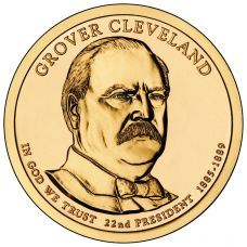 "USA 2012 $1 Presidentti Grover Cleveland ""D"" UNC"