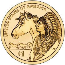 """USA 2012 $1 Sacagawea Native American """"D"""" UNC"""