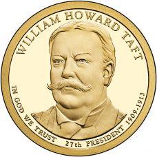 "USA 2013 $1 Presidentti William Howard Taft ""D"" UNC"