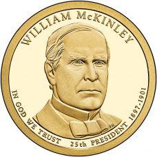 """USA 2013 $1 Presidentti William McKinley """"D"""" UNC"""