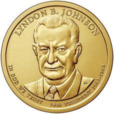 "USA 2015 $1 Presidentti Lyndon B. Johnson ""D"" UNC"